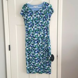 Chic Boden Jersey Dress with Ruching sz 6
